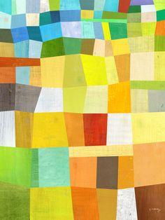 """Sunny Block Abstract Print 12"""" x 16"""". $48.00, via Etsy."""