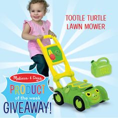 Tootle Turtle Lawn Mower Giveaway!  3 lucky people will win!