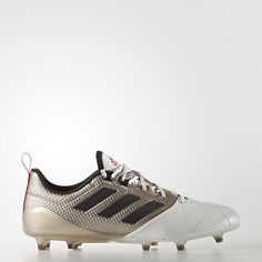 cheap for discount 2598e 52725 Adidas Ace 17.1 Firm Ground Boots Platin Metallic Core Black Core Red  Ba8554 Womens Soccer Cleats