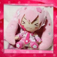 Prize❤vocaloid Sakura Miku HATSUNE❤2014 Cute Plush❤close Eyes❤taito Japan   eBay