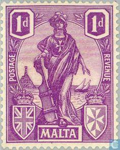 Stamps - Malta - Heraldry 1924