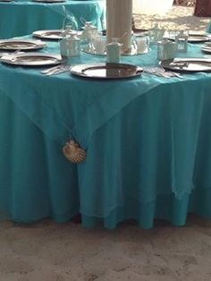 Turquoise and brown wedding reception
