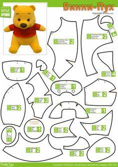 winnie the pooh sewing pattern | Los dos peluches son muy sencillitos de hacer pero si tienen algun ...