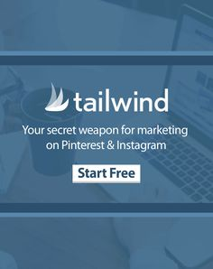 Tailwind is great for managing Pinterest and Instagram marketing. Helps me find content, schedule posts and run contests. Start a free trial to check it out!