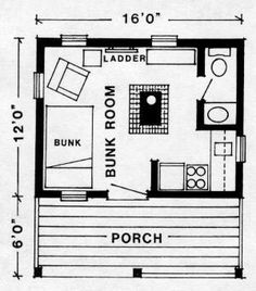 Tiny Camping House Plans The Kenora Ii Cabin Plans By Techart