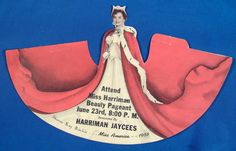 1956 Miss America Pageant, Miss Harriman Tennessee Sash And 3D Standup Figure (Featuring Miss America 1956, Sharon Ritchie.)