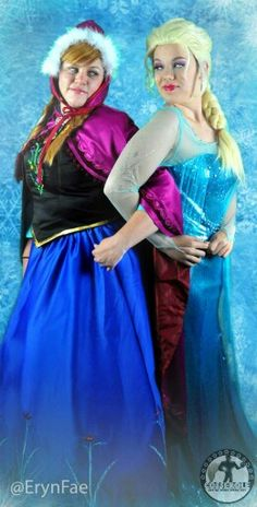 Eryn Fae as Anna. Guest cosplayer Emily as Elsa. #cosserole #cosplay #frozencosplay #sistersforever #sisters #frozen #anaandelsa #annaandelsa #anna #elsa #annacosplay #elsacosplay #halloween