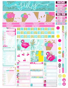 Items similar to Printable Planner Stickers July Monthly Spread Kit for Erin Condren Life Planner Vertical Horizontal Summer Beach PDF JPG Month View Glam on Etsy Daily Planner Printable, Printable Planner Stickers, Monthly Spread, Mini Happy Planner, Journal Stickers, Life Planner, Sticker Paper, Shipping Label, Erin Condren