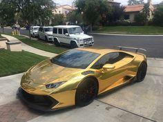 "2,923 Likes, 13 Comments - www.HuracanTalk.com (@huracantalk) on Instagram: ""GOLD  @huracantalk member @rawmean @vorsteiner Novara #Lamborghini #Huracan wrapped in #Gold by…"""