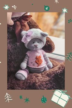 Crochet Animal Patterns, Stuffed Animal Patterns, Crochet Animals, Amigurumi Toys, Amigurumi Patterns, Art All The Way, Bunny And Bear, Crochet Bunny, Toddler Gifts
