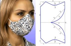 Sewing Basics, Sewing Hacks, Sewing Tutorials, Mouth Mask Fashion, Fashion Face Mask, Easy Face Masks, Diy Face Mask, Dress Sewing Patterns, Sewing Patterns Free