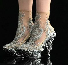 """Baroque Angels"" shoes by Alexander McQueen"