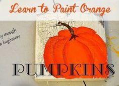 Learn How to Paint Orange Pumpkins