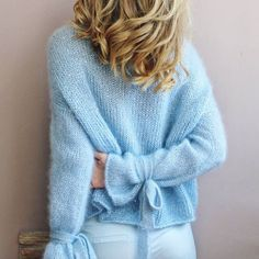 Always had a weakness for this baby's blue colour 🤤 Angora, Mohair Sweater, Knit Fashion, Cozy Sweaters, Sweater Outfits, Sweater Weather, Crochet Clothes, Cardigans For Women, Knitwear