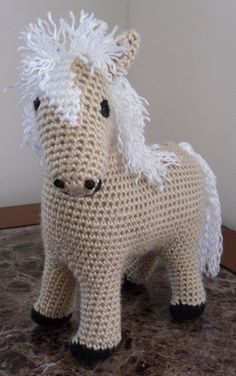 Pretty  Palomino  Handmade Crochet Plush Toy