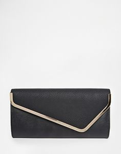 Dune | Dune Saffiano Effect Clutch Bag at ASOS