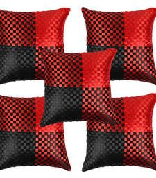 Set of 5 Stunning Red Black Cushion Covers Online at lowest price