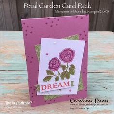 Petal Garden | Memories & More Card Kit | Carolina Evans - Stampin' Up! Demonstrator Melbourne Australia #carolinaevans #studioevans #stampinup #annualcatalogue2018 #annualcatalog2018 #memories&more #petalgarden #gdp092