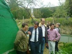 Visita de la diputación de Córdoba y UCO (Universida de veterinaria de Córdoba) a la granja experimental de Espemon Sociedad Cooperativa Helicicola