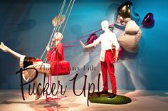 Balloons are a high impact, budget friendly way to create a Valentine's Display VALENTINE'S DAY WINDOWS: PUCKER UP! – Holts Muse