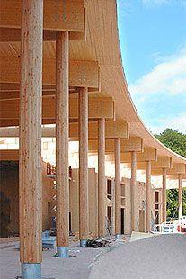Poste de madera / laminado encolado ORSCHOLZ HESS TIMBER