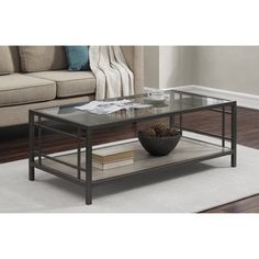 Shop for Alice Wood/ Glass/ Metal Coffee Table. Get free shipping at Overstock.com - Your Online Furniture Outlet Store! Get 5% in rewards with Club O!