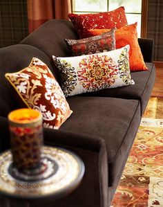 Fall Decorating - Pier 1 Imports Pillows