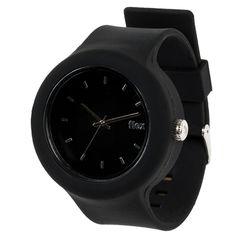 Black on Black interchangeable watch by Flex Watches.