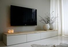 45 ways to use IKEA Besta units in home decor ., 45 ways to use IKEA Besta units in home decor Home Living Room, Living Room Designs, Living Room Decor, Apartment Living, Tv Stand Ideas For Living Room, Attic Apartment, Tv On The Wall Ideas, Ikea Living Room Storage, Living Room Tv Unit