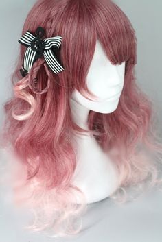 Lolita Purple Mixed Pink Couples Wig - Looking for Hair Extensions to refresh your hair look instantly? KINGHAIR® only focus on premium quality remy clip in hair. Visit - - for more details Anime Wigs, Anime Hair, Kawaii Hairstyles, Cute Hairstyles, Front Hair Styles, Curly Hair Styles, Kawaii Wigs, Unnatural Hair Color, Lolita Hair