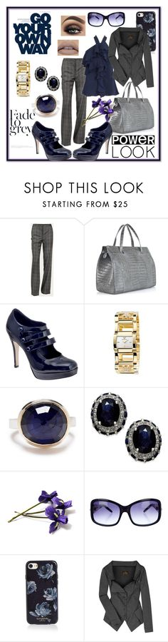 """Fade to Grey"" by shearenvy ❤ liked on Polyvore featuring Alexander McQueen, MM Couture by Miss Me, Nancy Gonzalez, Emporio Armani, Jamie Joseph, Jimmy Choo, Kate Spade, Vivienne Westwood Anglomania, navy and blazer"