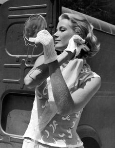 Grace Kelly during filming To Catch A Thief, 1954