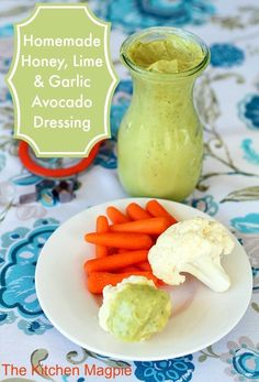 Homemade Honey, Lime & Garlic Avocado Dressing