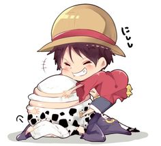 One Piece, Trafalgar Law, Monkey D. Luffy