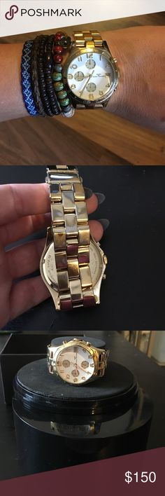 Marc by Marc Jacobs watch Marc by Marc Jacobs watch. There is normal ware on the band as you can see in the 2nd picture but still over all good condition.  Includes extra links and original box, battery needs to be replaced Marc by Marc Jacobs Accessories Watches