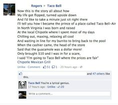 I love Taco Bell's comment