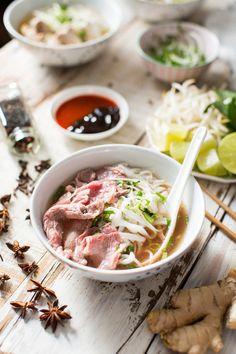 Pho Bo - Beef Pho Recipe - Honeysuckle