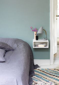 Natbord House Goals, Wall Colors, Floating Nightstand, Room Inspiration, Bean Bag Chair, Interior Decorating, Kids Rugs, Table, Diy