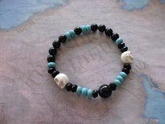 Men's skulls bracelet by Shynnasplace on Etsy, $21.50