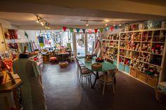 The interior of Social Fabric, 68 High Street, Totnes, Devon