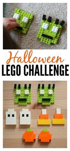 ... Halloween Lego Challenge - easy fine motor activity for kids.