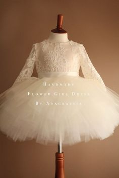 70f78d6dd Alencon ivory white lace leotard bridal wedding flower girl dress First  Communion Dresses 2017, Winter