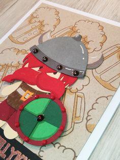 close up af kort med stempelsættet Skål og tillykke af NHH Design