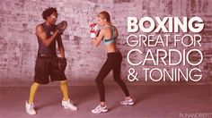 Boxing is great for cardio & toning #hitithard