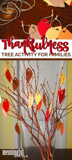 Trying to teach kids about gratitude? This thankfulness tree activity for families will help focus on being grateful for all we have. It's a DIY craft for kids of all ages.