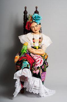 """FRIDA KAHLO Doll - Award-winning d'a-unique Original artiste poupée-tous la main 36 1/2""""-*** vente - maintenant 20 % de rabais ***"""