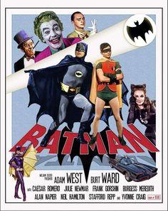 Batman- The Movie 1966 Batman 1966, Im Batman, Batman Comics, Batman Robin, Dc Comics, Batman Poster, Batman Stuff, Batman Tv Show, Batman Tv Series