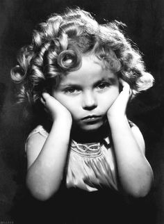 Shirley Temple... Looks a little down in the dumps here, but she usually was so effervescent