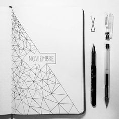 beautiful and charming November bujo ideas for your Bullet Journal - Brenda O. beautiful and charming November bujo ideas for your Bullet Journal - Brenda O. - Bullet journal monthly cover page, March cover page, geometric designs. Bullet Journal December, Bullet Journal Cover Page, Bullet Journal 2020, Bullet Journal Notebook, Bullet Journal Spread, Bullet Journal Layout, Bullet Journal Ideas Pages, Journal Covers, Bullet Journal Inspiration