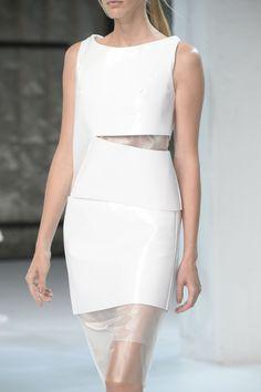 Sculptural Fashion // Porsche Design at New York Spring 2015 // white dress